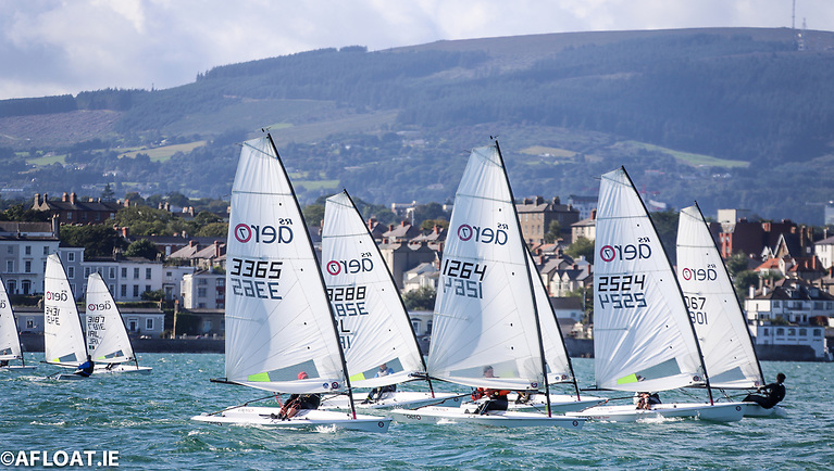 RS Aeros off Dun Laoghaire on Sunday, revelling in the best kind of Irish weather. Photo: Afloat.ie/David O'Brien