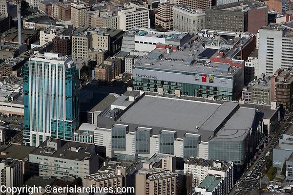 aerial photograph Intercontinental Hotel Moscone Center West SOMA San Francisco, California