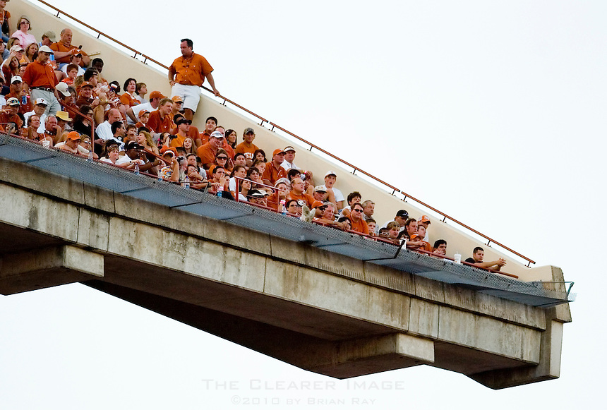 30 September 2006: Fans in the upper deck enjoy the game during the Longhorns 56-3 victory over the Sam Houston State Bearkats at Darrell K Royal Memorial Stadium in Austin, TX.