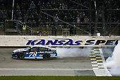 Monster Energy NASCAR Cup Series<br /> Go Bowling 400<br /> Kansas Speedway, Kansas City, KS USA<br /> Saturday 13 May 2017<br /> Martin Truex Jr, Furniture Row Racing, Auto-Owners Insurance Toyota Camry celebration<br /> World Copyright: Barry Cantrell<br /> LAT Images<br /> ref: Digital Image 17KAN1bc4779