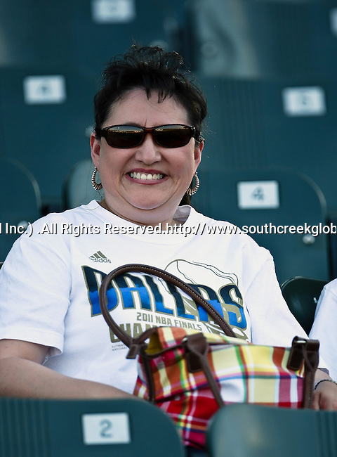 Fort Worth Cats fan, Brenda Wozniak, watches the American Association of Independant Professional Baseball game between the Amarillo Sox and the Fort Worth Cats at the historic LaGrave Baseball Field in Fort Worth, Tx. Fort Worth defeats Amarillo 5 to 3.