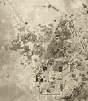 historical aerial photograph of Las Vegas, Clark County, Nevada, 1972 showing the entire metropolitan area at that time.  For historical aerial photographs of Las Vegas not shown on this web site, please contact Aerial Archives directly.
