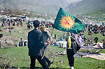 QANDIL, IRAQ: Kurds celebrate Newroz in the PKK controlled area of Qandil in the north of Iraqi Kurdistan...On March 21st 2013, during the Kurdish new year festival of Newroz, jailed PKK (Kurdish Workers Party) leader Abdullah Ocalan released a statement calling on the PKK to cease hostilities and withdraw from Turkey back to northern Iraq...Photo by Hawre Muhamed/Metrography