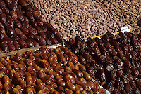 Marrakesh, Morocco - Dates, Nuts, Almonds for Sale in the Place Jemaa El-Fna.