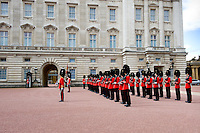 The changing of the guard at Buckingham palace