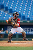 Austin Bode (24) of Columbus North High School in Columbus, IN during the Perfect Game National Showcase at Hoover Metropolitan Stadium on June 18, 2020 in Hoover, Alabama. (Mike Janes/Four Seam Images)