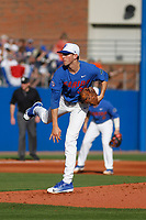 University of Florida Gators pitcher Jackson Kowar (37) on the mound during a game against the Siena Saints at Alfred A. McKethan Stadium in Gainesville, Florida on February 17, 2018. Florida defeated Siena 10-2. (Robert Gurganus/Four Seam Images)