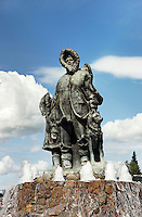 First Family statue, Golden Heart Park Fairbanks, AK, Alaska, USA