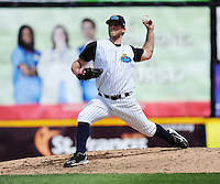 Trenton Thunder pitcher Jeremy Bleich (29) during game against the Portland Sea Dogs at ARM & HAMMER Park on June 23, 2013 in Trenton, NJ.  Portland defeated Trenton 11-0.  (Tomasso DeRosa/Four Seam Images)