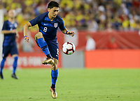 Tampa, FL - Thursday October 11, 2018: The men's national teams of the United States (USA) and Colombia (COL) play in an international friendly game at Raymond James Stadium.