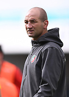 30th August 2020; Kingsholm Stadium, Gloucester, Gloucestershire, England; English Premiership Rugby, Gloucester versus Leicester Tigers; Steve Borthwick Head Coach for Leicester Tigers watches his team warm up