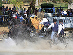 09 October 2010.  Boyd Exell and his team from Australia lead the way in the Driving Marathon.