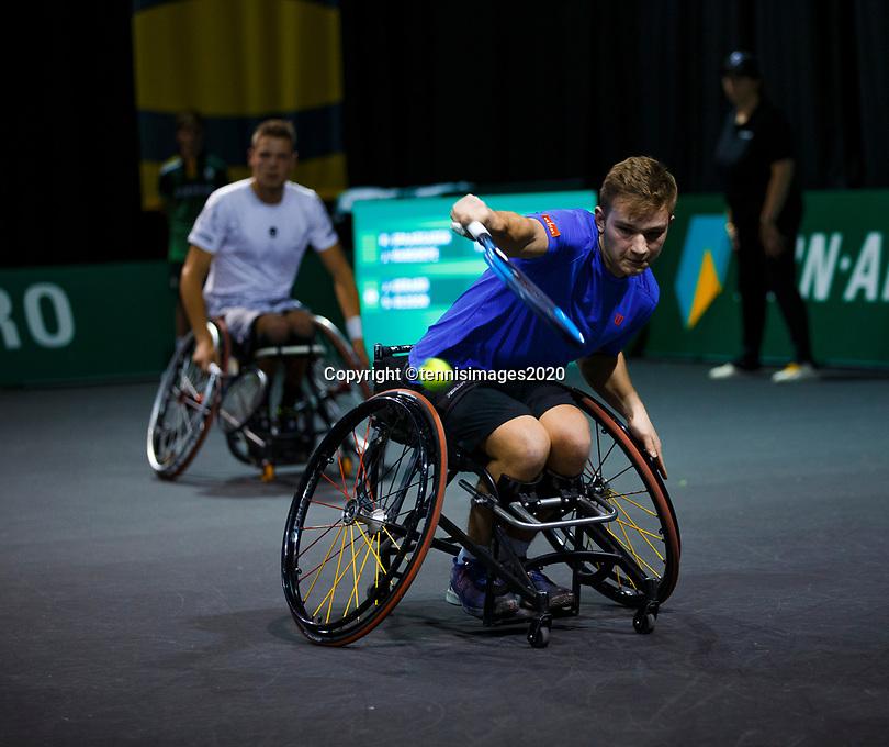 Rotterdam, The Netherlands, 11 Februari 2020, ABNAMRO World Tennis Tournament, Ahoy, <br /> Wheelchair tennis: Jef Vandorpe (BEL).<br /> Photo: www.tennisimages.com