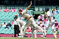 9th January 2021; Sydney Cricket Ground, Sydney, New South Wales, Australia; International Test Cricket, Third Test Day Three, Australia versus India; Josh Hazlewood of Australia bowling