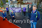 The committee members of the Killarney Valley Athletic Club at their new facilities on Saturday.  Front right: Gerry Griffin (Vice Chairman). Kneeling Thomás Griffin and Con Lynch. Standing l to r: Brid Stack, Jean Courtney and Cathal O'Brien (Chairman of the South and East Kerry Rural Track)