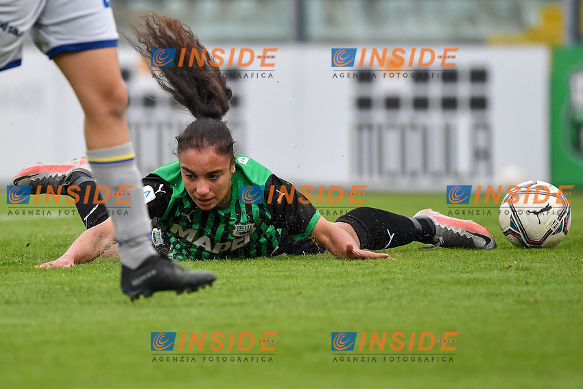 Haley Bugeja of Sassuolo reacts after a foul during the women Serie A football match between US Sassuolo and Hellas Verona at Enzo Ricci stadium in Sassuolo (Italy), November 15th, 2020. Photo Andrea Staccioli / Insidefoto