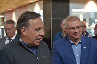 Francois Legault, Chef de la CAQ de passage le 30 septembre 2018, a Saint-Jean-Sur-Richelieu<br /> pour soutenir son candidat.<br /> <br /> PHOTO : Agence Quebec Presse