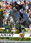 8 October 2010: Penelope Leprevost (FRA) and Mylord Carthago*HN compete during the Show Jumping Individual Championship Qualifiers in the World Equestrian Games in Lexington, Kentucky