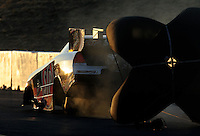 Jul. 29, 2011; Sonoma, CA, USA; NHRA funny car driver Tony Pedregon during qualifying for the Fram Autolite Nationals at Infineon Raceway. Mandatory Credit: Mark J. Rebilas-