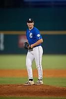 Cale Lansville (17) of Thunder Ridge High School in Centennial, CO during the Perfect Game National Showcase at Hoover Metropolitan Stadium on June 20, 2020 in Hoover, Alabama. (Mike Janes/Four Seam Images)