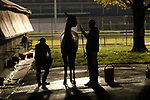 LOUISVILLE, KY -APR 25: Barn scene at 5 a.m. at Churchill Downs, Louisville, Kentucky. (Photo by Mary M. Meek/Eclipse Sportswire/Getty Images)