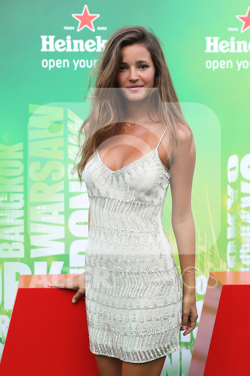 Spanish model Malena Costa poses for photographers  during a Heineken event in Madrid, Spain. July 17, 2014. (ALTERPHOTOS/Carlos Dafonte)