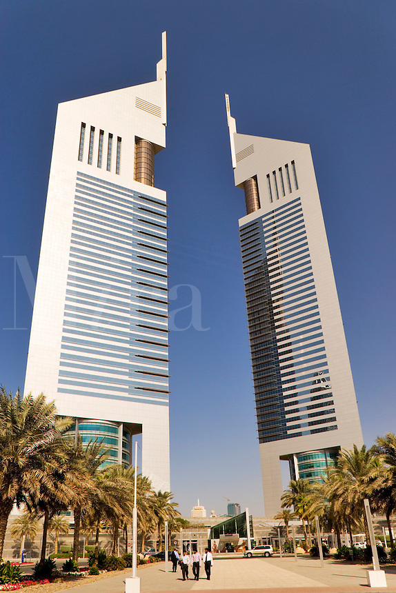 Dubai.  Emirates Towers in the Financial District housing some of the government?s administrative offices..