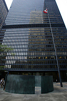 the Toronto Dominion Centre between King Street West and wellington  in downtown Toronto.<br />  Designed by Architect Ludwig Mies Van Der Roche and build between 1967 and 1969.<br /> <br /> <br />     photo by Pierre Roussel - Images Distribution