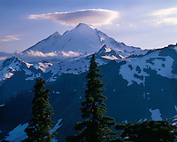 Cloud formation over Mt. Baker viewed from Artist Point; Mt. Baker/Snoqualmie National Forest, WA