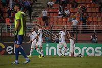SÃO PAULO, SP 07.03.2019: SANTOS-AMERICA-RN - Aguilar comemroa o gol. Santos e America-RN em jogo válido pela segunda fase da Copa do Brasil 2019, no estádio Pacaembu, zona oeste da capital. (Foto: Ale Frata/Codigo19)