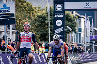 Mads Pedersen (DEN/Trek-Segafredo) wins the 82nd Gent-Wevelgem in Flanders Fields 2020 (1.UWT)<br /> <br /> 1 day race from Ieper to Wevelgem (232km)<br /> <br /> ©kramon