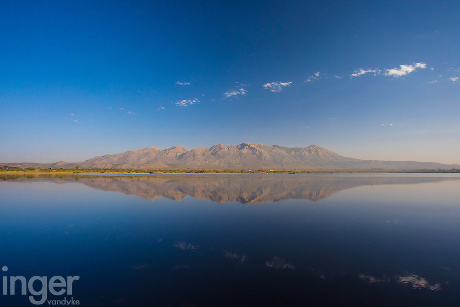 Lake reflection near Ziway in Central Ethiopia