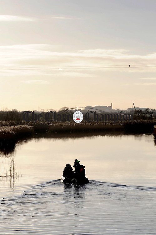 Bunratty Search and Rescue on the River fergus.Pic Arthur Ellis.