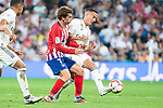 Real Madrid Lucas Vazquez and Atletico de Madrid Antoine Griezmann during La Liga match between Real Madrid and Atletico de Madrid at Santiago Bernabeu Stadium in Madrid, Spain. September 29, 2018. (ALTERPHOTOS/Borja B.Hojas)