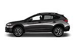 Car driver side profile view of a 2018 Subaru Crosstrek 4wd 5 Door SUV