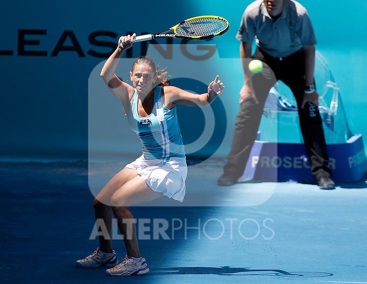 Roberta Vinci during Madrid Open Tennis 2012 Match.May, 10, 2012(ALTERPHOTOS/ALFAQUI/Acero)