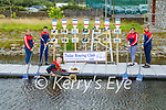 Dr Noel Mulligan and members of the Tralee Rowing club at the site where there is an Ecological Investigation of the Tralee Ship Canal, Dr Noel Mulligan in the water, standing l to r: Rosie Giles, Sam Calinan, Aoife O'Connell and Heidi Giles.