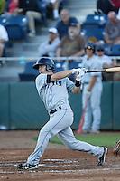 Chris O'Dowd #24 of the Tri-City Dust Devils bats against the Everett AquaSox at Everett Memorial Stadium on July 24, 2013 in Everett, Washington. Tri-City defeated Everett, 3-1. (Larry Goren/Four Seam Images)