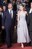 MEL GIBSON, ERIN MORIARTY - CANNES 2016 - MONTEE DU FILM 'BLOOD FATHER'