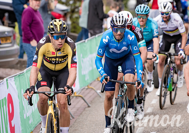 Wout van Aert (BEL/Jumbo-Visma) up the final ascent of the Geulhemmerberg<br /> <br /> 55th Amstel Gold Race 2021 (1.UWT)<br /> 1 day race from Valkenburg to Berg en Terblijt; raced on closed circuit (NED/217km)<br /> <br /> ©kramon