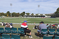 Fans watch the 1st ODI women's cricket international between New Zealand White Ferns and England at Hagley Oval in Christchurch, New Zealand on Tuesday, 23 February 2021. Photo: Martin Hunter / lintottphoto.co.nz