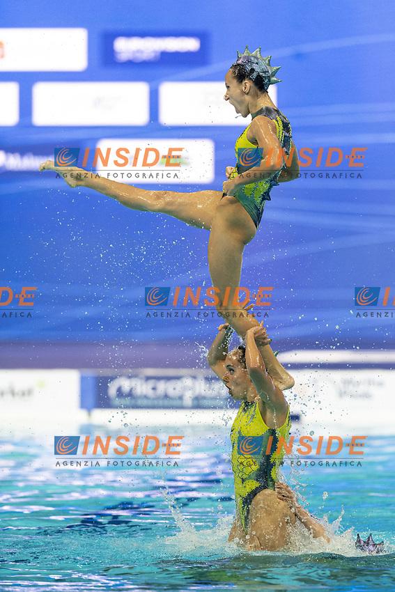 Spain ESP Conesa Prieto Abril, Ferreras Sanz Berta, Jimenez Nieto Cecilia, Mas Pujadas Meritxell, Ozhogina Ozhogin Alisa, Ramirez Ibanez Paula, Saldana Lopez Sara, Tio' Casas Iris, Toledano Laut Blanca<br /> Team Free Final -  Artistic Swimming<br /> XXXV LEN European Aquatic Championships 2020<br /> Duna Arena - Budapest  - Hungary <br /> 20210514<br /> Photo Giorgio Scala / Deepbluemedia / Insidefoto<br /> DBM/LEN Reserved Rights <br /> Author must be mentioned when published<br /> Editorial/media use only