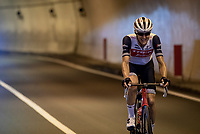 Nicola Conci (ITA/Trek-Segafredo)<br /> <br /> 'La Primavera' (Spring) in summer!<br /> 111st Milano-Sanremo 2020 (1.UWT)<br /> 1 day race from Milano to Sanremo (305km)<br /> <br /> the postponed edition > exceptionally held in summer because of the Covid-19 pandemic calendar reshuffle