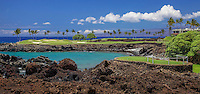 The No. 15 Hole on the Mauna Lani South Golf Course, Big Island of Hawai'i.