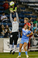 Chicago, IL - Saturday Sept. 24, 2016: Michele Dalton, Joanna Lohman during a regular season National Women's Soccer League (NWSL) match between the Chicago Red Stars and the Washington Spirit at Toyota Park.