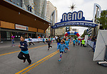 The start of the Jr Mile portion of the Downtown River Run held in Reno, Nevada  on Sunday April 29, 2018.