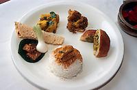 Essen im  Restaurant Kandahar Oberoi, Bombay (Mumbai), Maharashtra, Indien