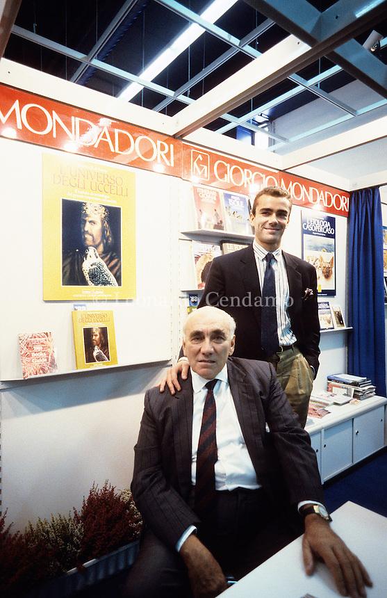 Giorgio, Paolo Mondadori, padre e figlio, editors,  © Leonardo Cendamo
