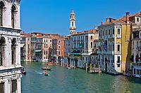 View from the Rialto Bridge over the Grande Canal in Venice