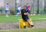 St Johnstone Training …03.08.21  <br />Manager Callum Davidson pictured during training this morning at McDiarmid Park before heading to Turkey to face Galatasaray in the Europa League third qualfying round first leg.<br />Picture by Graeme Hart.<br />Copyright Perthshire Picture Agency<br />Tel: 01738 623350  Mobile: 07990 594431